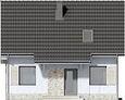 Projekt domu Kalinówka - elewacja przednia