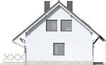 Projekt domu Kalinówka - elewacja boczna 1