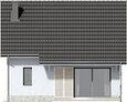 Projekt domu Kalinówka - elewacja tylna