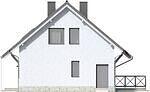 Projekt domu Kalinówka - elewacja boczna 2