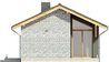 Projekt domu Kosówka - elewacja boczna 1