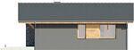 Projekt domu Kosówka - elewacja tylna