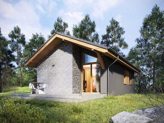 Projekt domu Kosówka - widok 1
