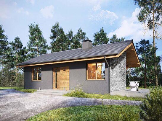 Projekt domu Kosówka - widok 2