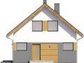 Projekt domu Lago - elewacja przednia