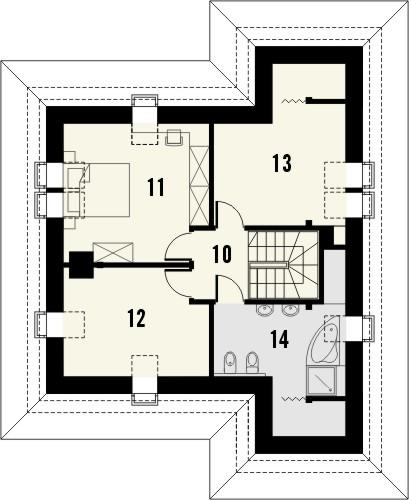 Projekt domu Lupus - rzut poddasza