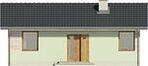 Projekt domu Miętówka - elewacja przednia