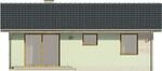 Projekt domu Miętówka - elewacja tylna