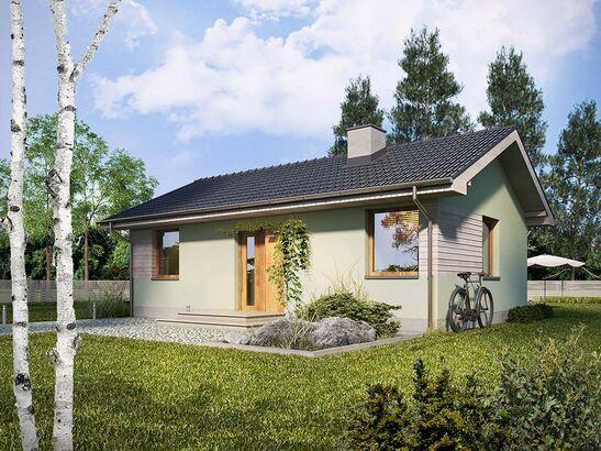Projekt domu Miętówka - widok 1