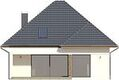 Projekt domu Modest - elewacja tylna