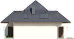 Projekt domu Modest - elewacja boczna 2