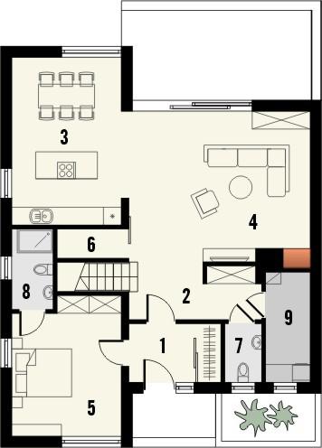 Projekt domu Modest 2 - rzut poddasza