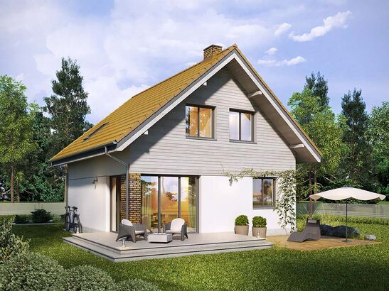 Projekt domu Płomyk - widok 1