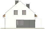 Projekt domu Primo 2 - elewacja boczna 1