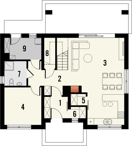 Projekt domu Primo 2 - rzut parteru