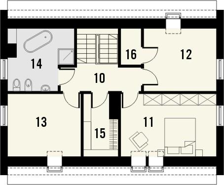 Projekt domu Primo 2 - rzut poddasza