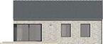 Projekt domu Studio 27 - elewacja tylna