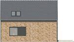 Projekt domu Studio 42 - elewacja tylna