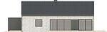 Projekt domu Studio 49 - elewacja boczna 1