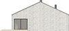 Projekt domu Studio 49 - elewacja tylna
