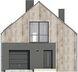 Projekt domu Studio 63 - elewacja przednia