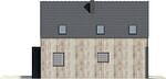 Projekt domu Studio 63 - elewacja boczna 1