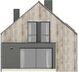 Projekt domu Studio 63 - elewacja tylna