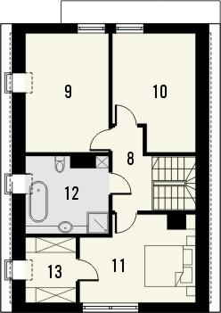 Projekt domu Studio 63 - rzut poddasza