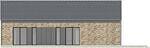 Projekt domu Studio 68 - elewacja tylna