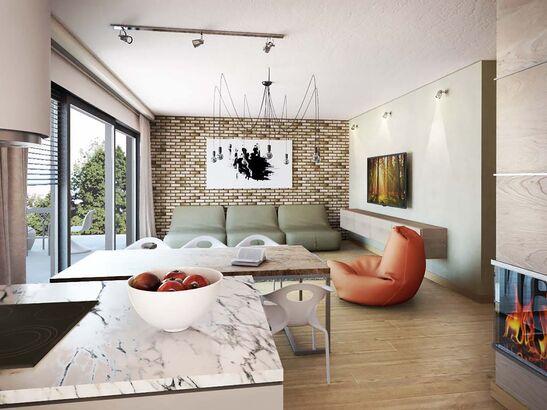 Projekt domu Studio 68 - widok 3