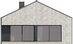 Projekt domu Studio 89 - elewacja tylna