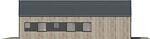 Projekt domu Studio 95 - elewacja boczna 1