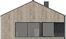 Projekt domu Studio 95 - elewacja tylna
