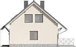 Projekt domu Werbena - elewacja boczna 1