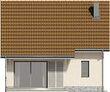 Projekt domu Werbena - elewacja tylna