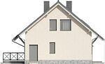 Projekt domu Werbena - elewacja boczna 2