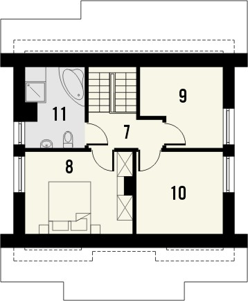 Projekt domu Werbena - rzut poddasza