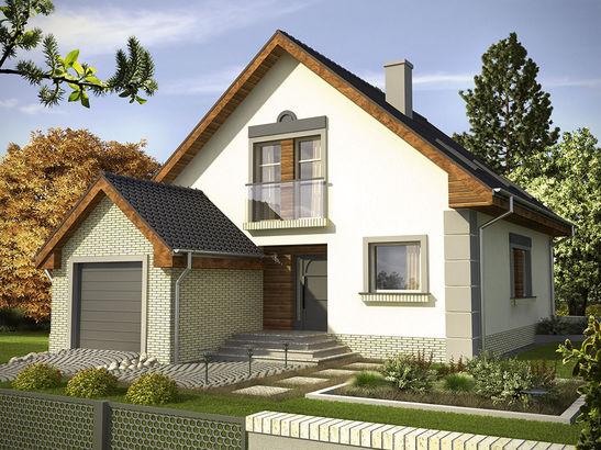 Projekt domu Absyda - widok 1