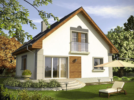 Projekt domu Absyda - widok 2